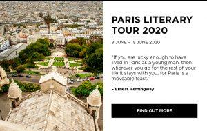 Bookoccino literary tours 2020