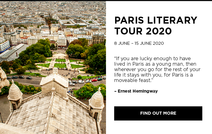 Bookoccino literary tours 2020