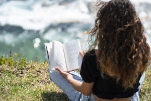 reading beach photo beautiful girl