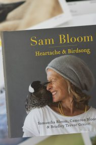 Sam Bloom Bookoccino event Heartache and Birdsong
