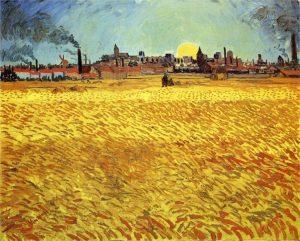 Van Gogh PAINTING SUMMER EVENING WHEATFIELD