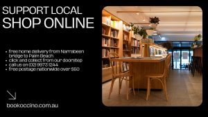 Shop online with Bookoccino Free Coffee Books Literature Northern Beaches Lockdown Reading