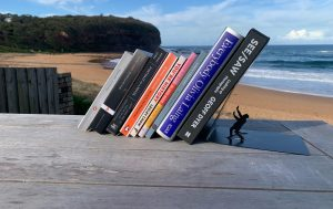 collection of books by beach feminism