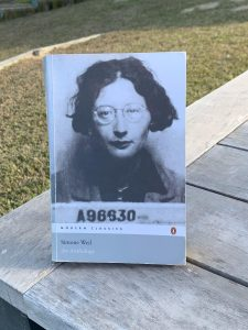 Simone Weil Anthology Philosopher Book Intellectual James Bookoccino Lockdown postcard